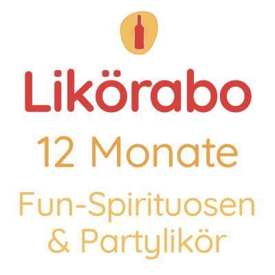 Likörabo 12 Monate | Fun-Spirituosen & Partylikör