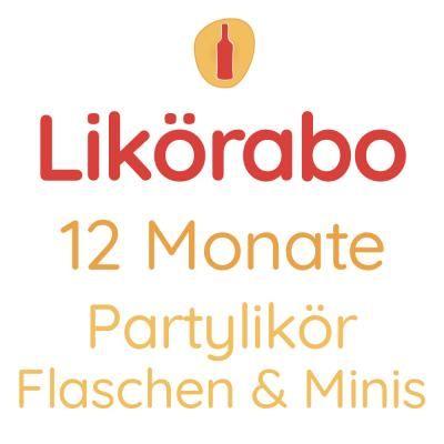 Likörabo 12 Monate | Partylikör Flaschen & Minis