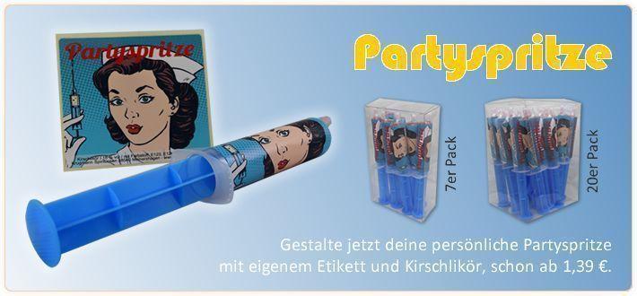. 20 Banner Partyspritze