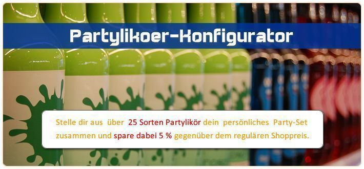 . 60 Banner Partylikör-Konfigurator